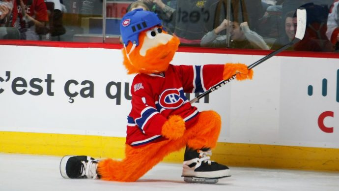 Youppi! the offensively ginger mascot of the Montreal Canadiens